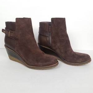 Cole Haan Brown Suede Wedge Boots 10.5 B